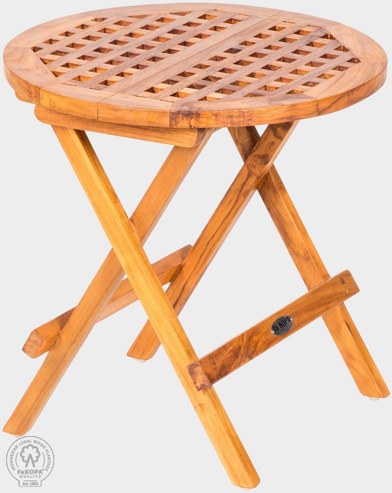 stolek skládací z teaku