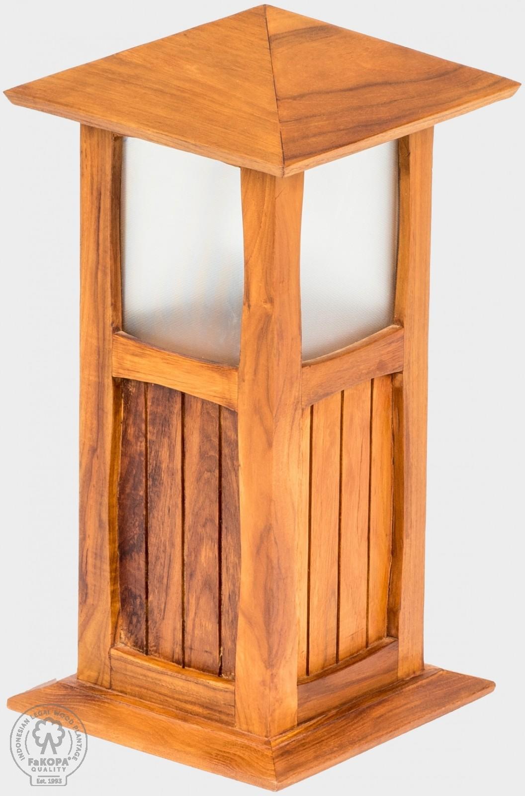 lampa z teaku